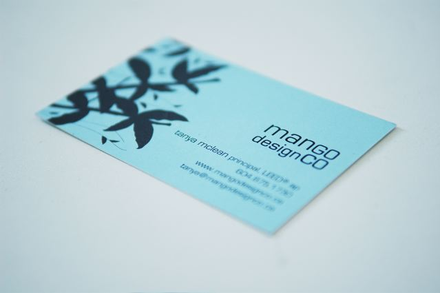Mango Design business card