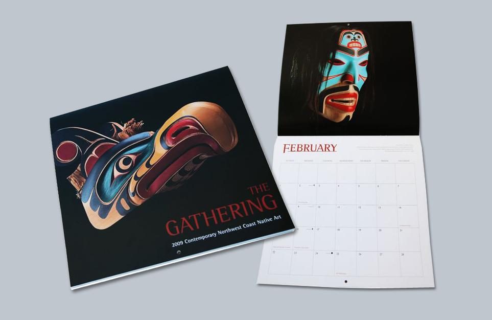 Calendar of native northwest artwork