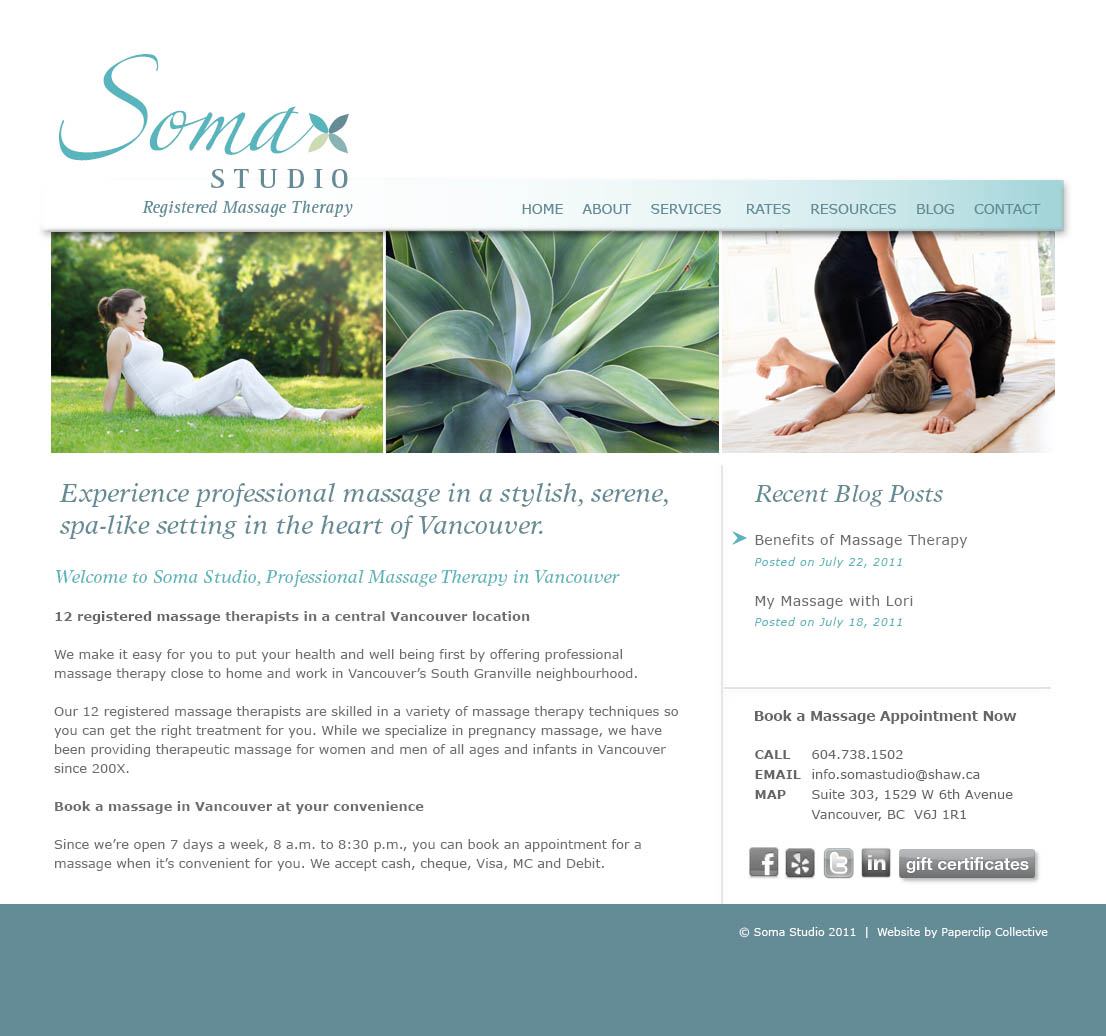 Soma Studio Massage Therapy | Paperclip Creative