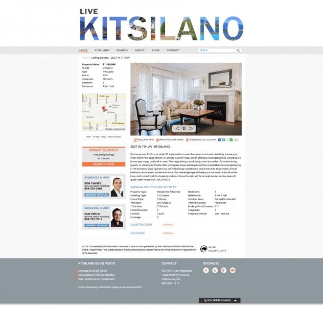 Live Kitsilano - Listings page
